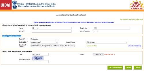 online appointment for aadhaar enrolment book online aadhar